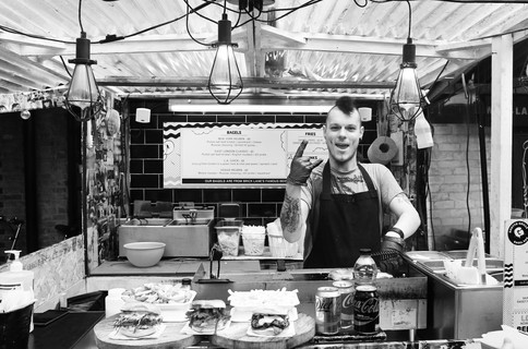 """Bagel Man"" Camden Market, London"