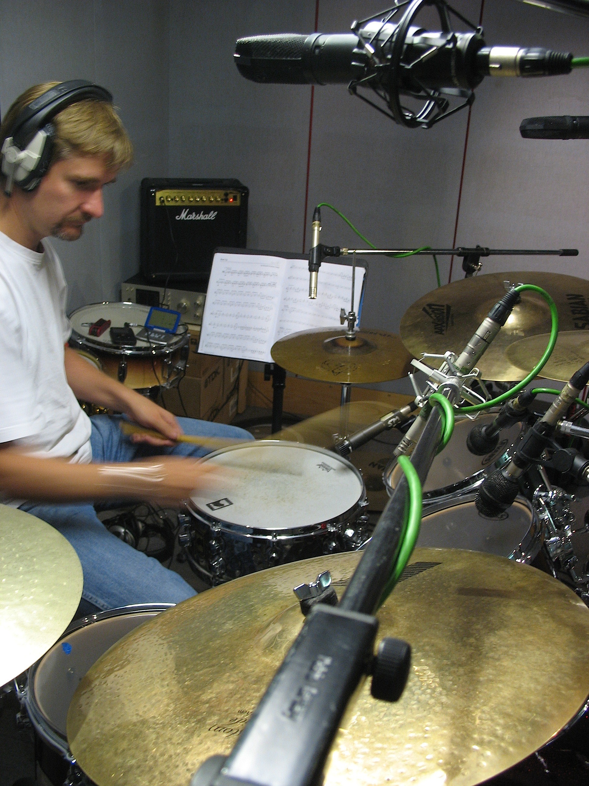 Stu Slater in studio