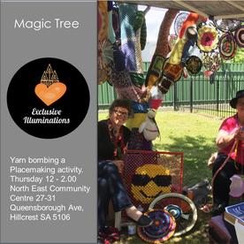 Magic Tree Yarn bombing