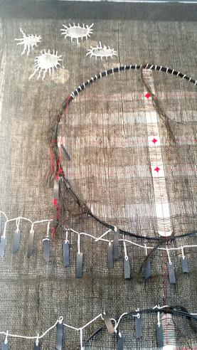 Weaving wallhanging detail