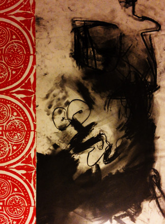 Drawing  Charcoal and bloc printing