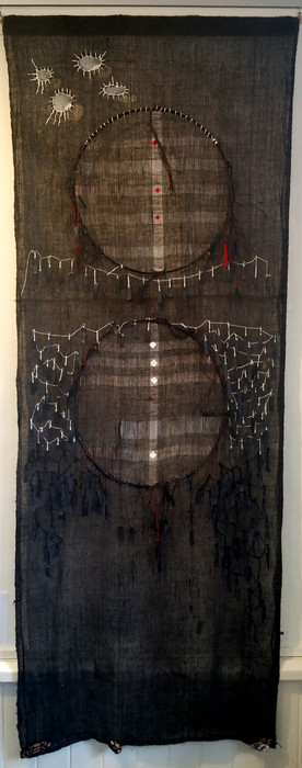 Weaving wallhanging full length.