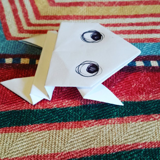 Frog dreaming Origami