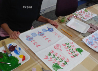 May 7th block printing, a great lot of experimenting was done.