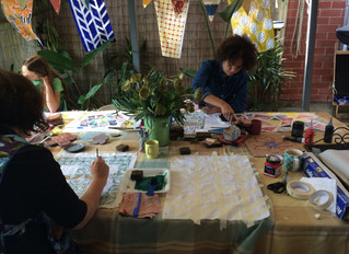 BLOCK PRINTING on FABRICYou have the opportunity to sew up the fabrics you have created later.