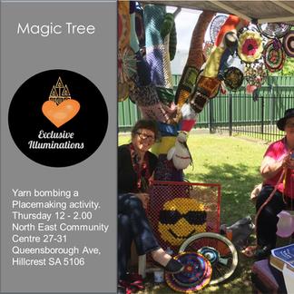 Magic Tree Yarn bombing is Place making