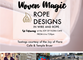 You are invited to the LAUNCH of ...  Woven Magic ROPE DESIGNS IN WIRE AND ROPE 1st February at the