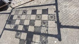 Kilburn train station install, beautiful shadows.