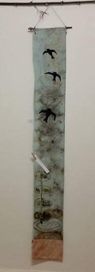 Drawing on silk The Song Of Birds Over W