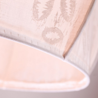 block printing on cotton round lampshade