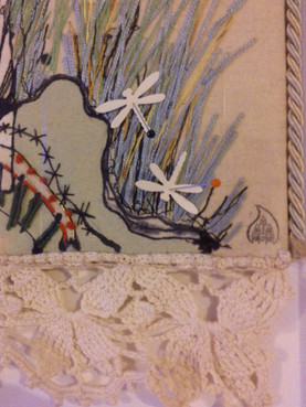 Embroidery and collage