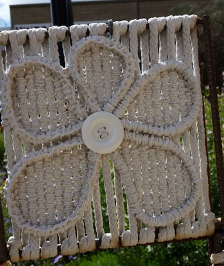 17 flower 2 hand stitched and woven magi