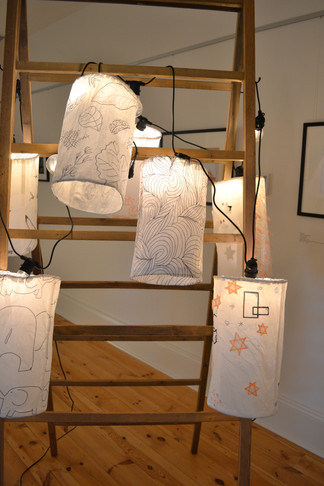 Lantern installation workshop Gallery 18