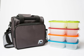 Agile Life Designs Large Insulated Lunch Bag with Bento Boxes