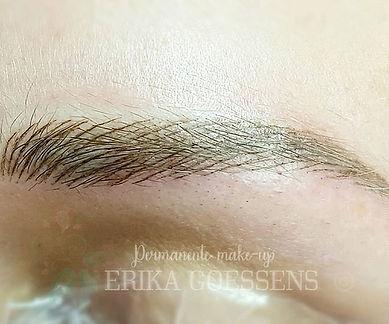 Hairstroke wenkbrauwen close-up__#hairst