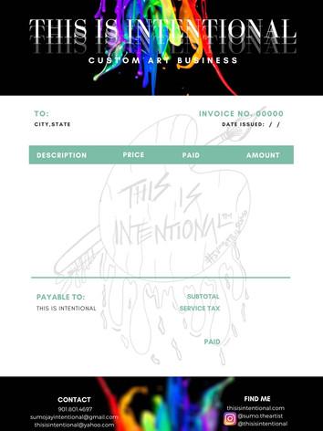 Invoice Sample Graphic Design Template.j