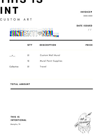 Simple Commercial Invoice Sample Templat