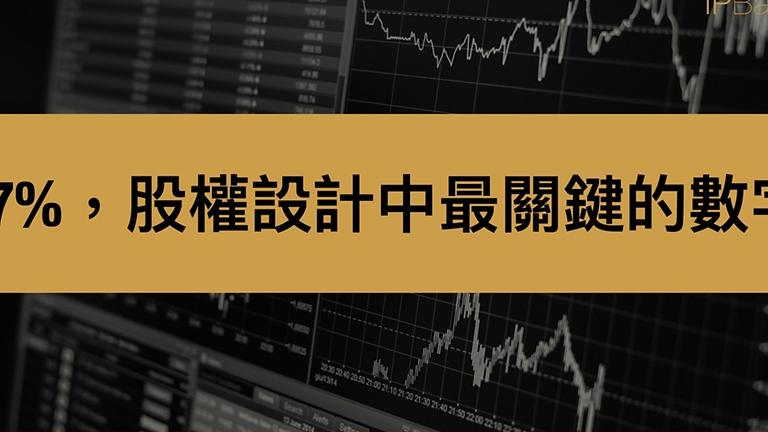 【2021線上課程】67%,股權設計中最關鍵的數字