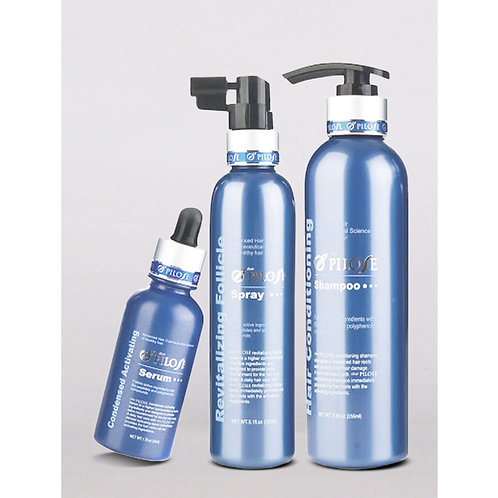 Pilose Anti-Hairloss Shampoo, Serum, Spray Set