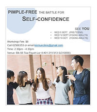 pimple-free self-confidence workshop