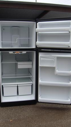Black GE Refrigerator INSIDE