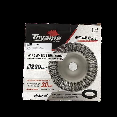 Escova Aço Rotativa P/ Roçadeira Furo 1 C/ Redução P/ 20mm Toyama - 15042