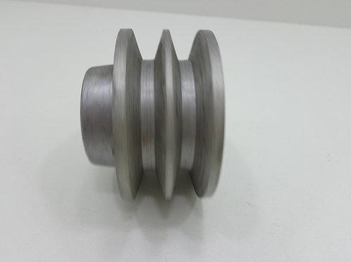 Polia De Aluminio 80 Mm 2b / Polia Para 2 Correias - 62809