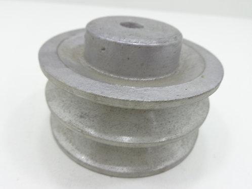 Polia De Aluminio 90 Mm 2b / Polia Para 2 Correias - 62810