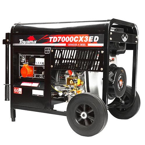 Gerador Diesel Toyama TRIF TD7000CX3ED S/ATS