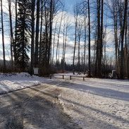 winter in the campground
