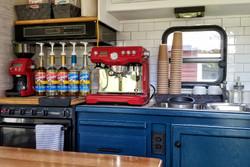 inside the coffee and treat wagon