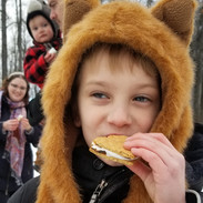 kids love smores at the campground