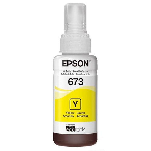 Garrafa de Tinta Original Epson EcoTank 673 Amarelo - T673420