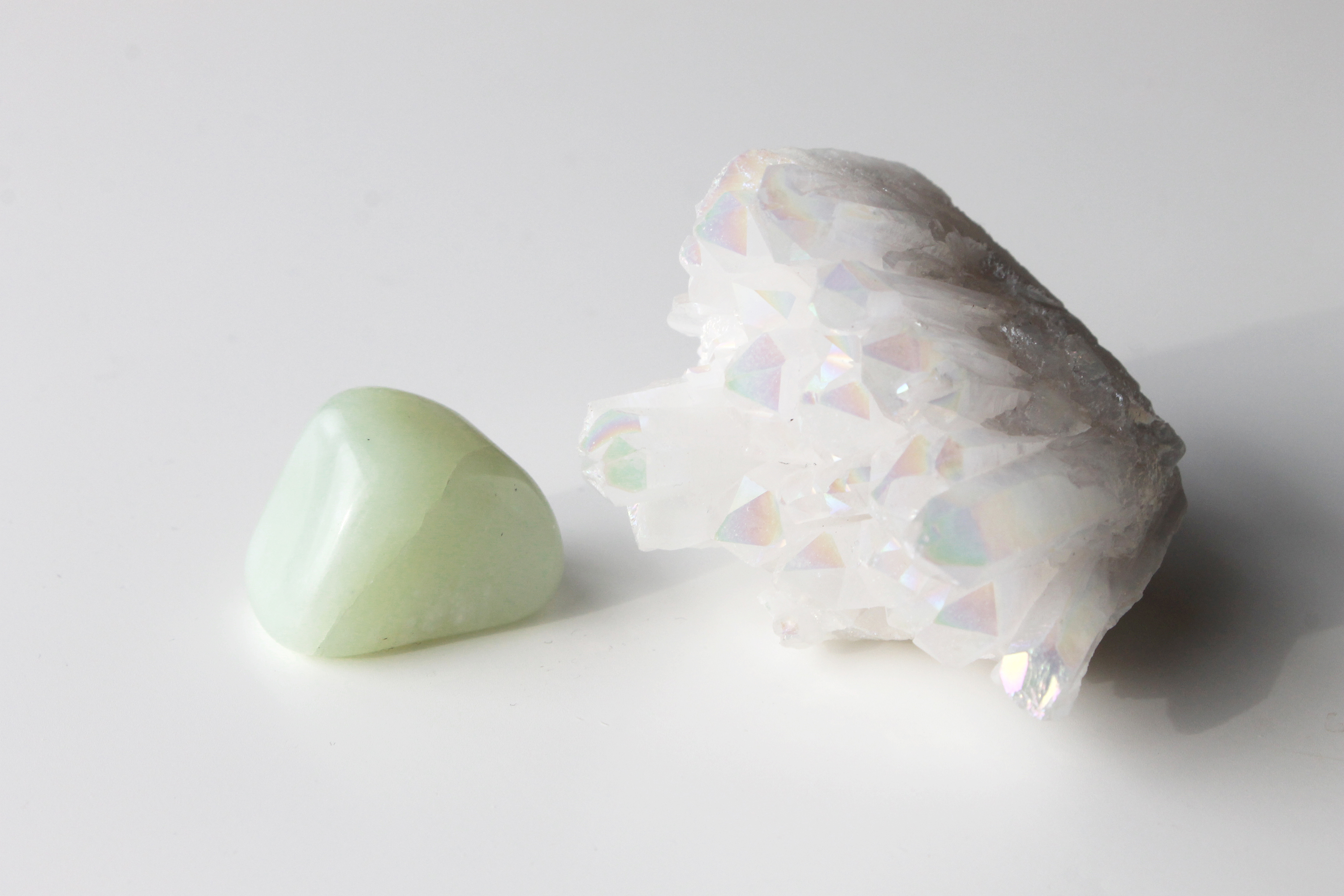 Jade and Angel Aura Crystals