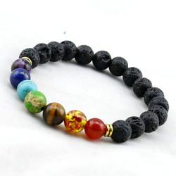 Chakra Lava Mala Beads