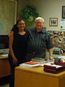 Con el Profesor David Hickman