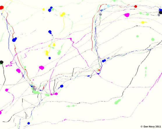 A Jackson Pollock-style digital painting.