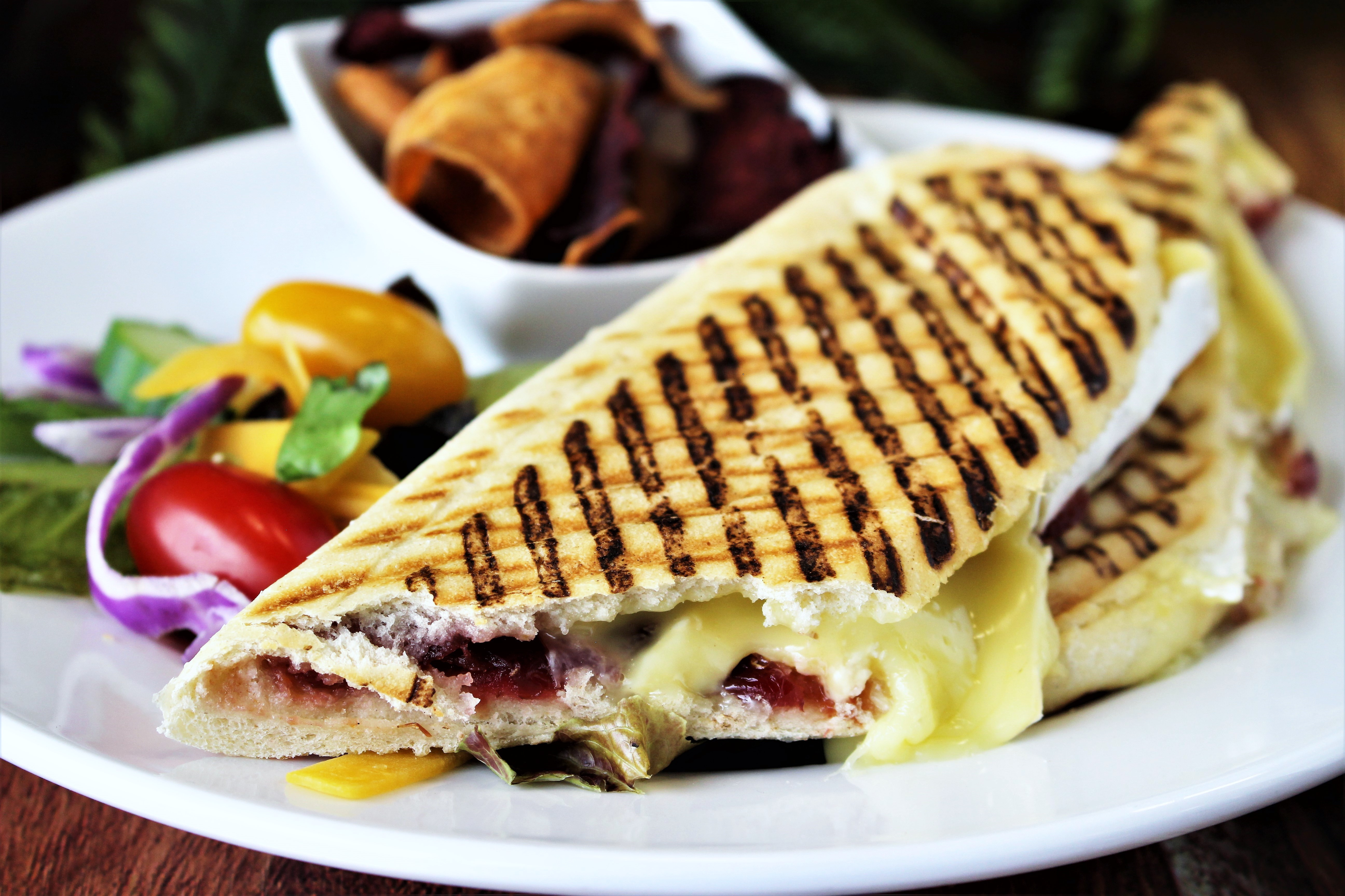 pannini brie and cranberry