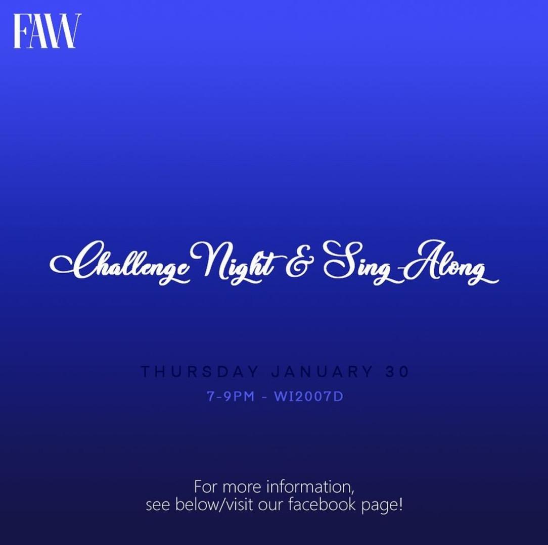FAW: Challenge & Sing-Along Night