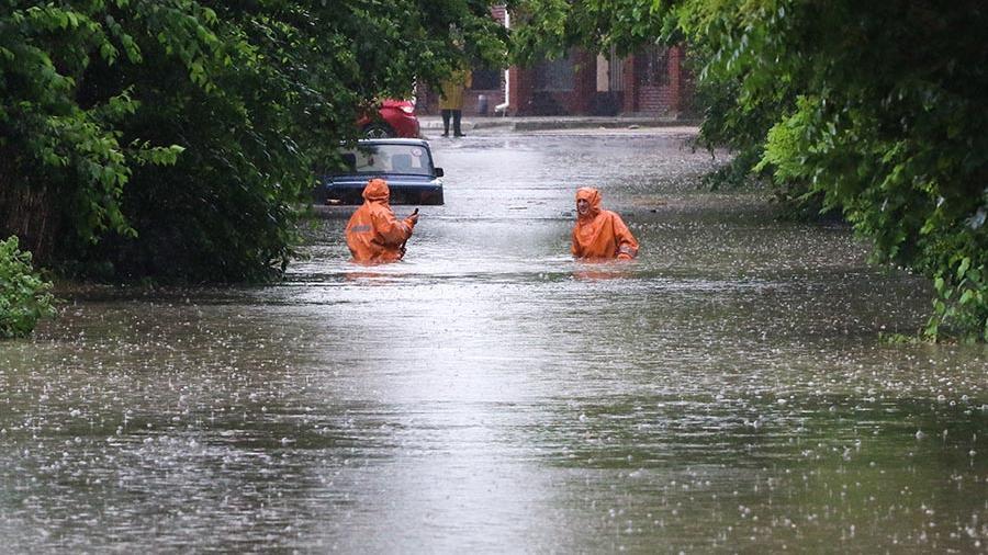 Улицы после наводнения