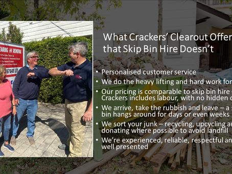 What Crackers' Clearout Offers that Skip Bin Hire Doesn't