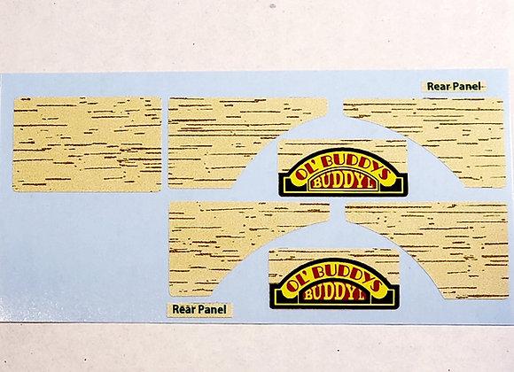 Buddy L Woody Wagon Decal Set