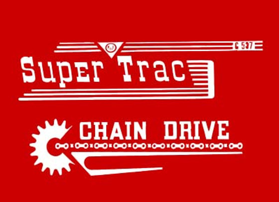 SUPER TRAC 537 PEDAL DECALS