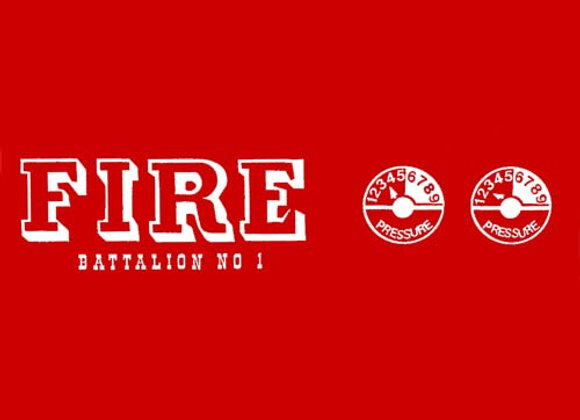 FIRE BATTALION DECAL SET