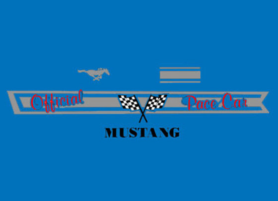 Mustang Pace Car Pedal Car Decals