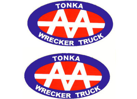 Tonka Wrecker Service Decals