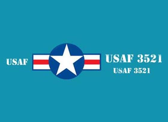 USA/USAF JEEP DECALS