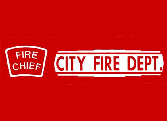 CITY FIRE DEPARTMENT DECALS
