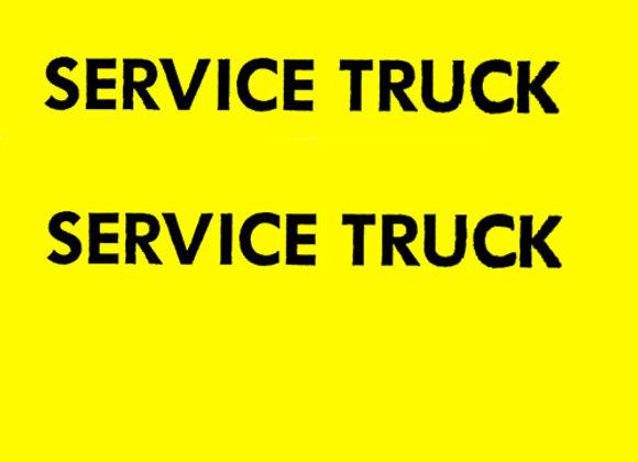SERVICE TRUCK DECALS