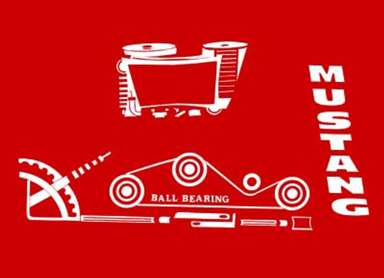 MUSTANG PEDAL TRACTOR DECALS